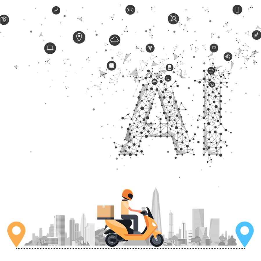 AI for online food delivery