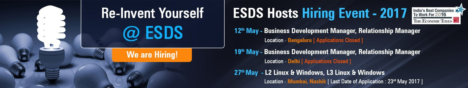 Career At ESDS Software Solution | The Best IT Company of India